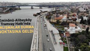 Eminönü-Alibeyköy Tramvay Hattı'nda çalışmalar durma noktasına geldi