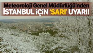 İstanbul'a 'sarı' uyarı
