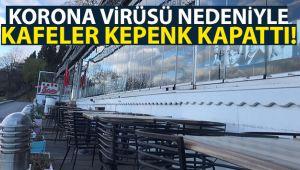 Korona virüsü nedeniyle kafeler kepenk kapattı, Üsküdar Salacak sahili bomboş kaldı