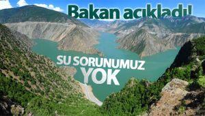 Bakan Pakdemirli: 'Su sıkıntısı öngörülmüyor'