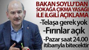 İçişleri Bakanı Soylu: 'Milletimizin telaşı var bunu da normal karşılıyorum ama bu telaşa gerek yok'