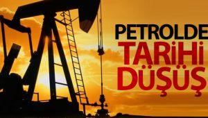Petrolde tarihi düşüş