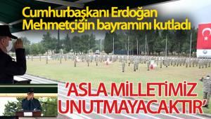Cumhurbaşkanı Erdoğan Mehmetçiğin bayramını kutladı