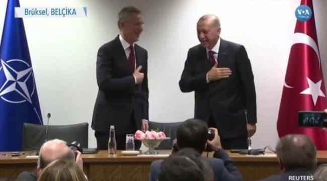 Erdoğan NATO Genel Sekreteri'yle Görüştü