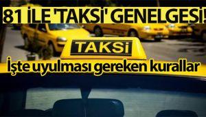 İçişleri Bakanlığından ticari taksilerle ilgili yeni genelge