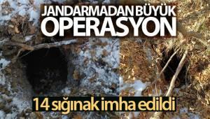 Tunceli'de 14 sığınak imha edildi