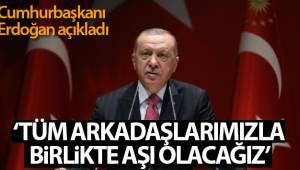 Cumhurbaşkanı Erdoğan: 'Aşı olacağımı açıklamıştım. Tüm vatandaşlarımı bu hassasiyete davet ediyorum'