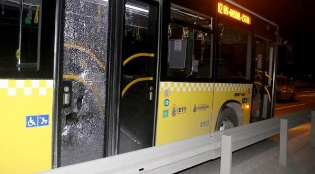 İETT otobüslerine taşlı saldırı