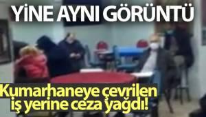 Ataşehir'de kumarhaneye çevrilen iş yerine baskın: Ceza yağdı