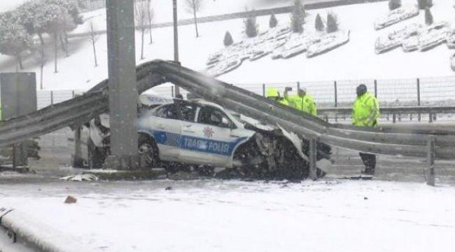 Beşiktaş'ta iki polis aracı kaza yaptı: 3 polis yaralandı
