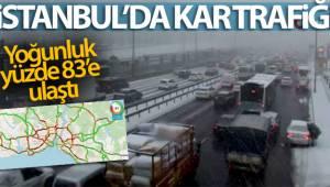 İstanbul'da kar trafiği, yoğunluk yüzde 83'e ulaştı
