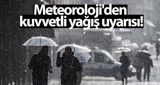 Meteoroloji'den kuvvetli yağış uyarısı! 25 Ocak yurtta hava durumu