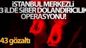 İstanbul merkezli 3 ilde siber dolandırıcılık operasyonu: 43 gözaltı