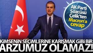 AK Parti Sözcüsü Çelik: 'Bizim hiç kimsenin seçimlerine karışmak gibi bir arzumuz olamaz'