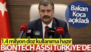 Bakan Koca açıkladı! Biontech aşısı Türkiye'de