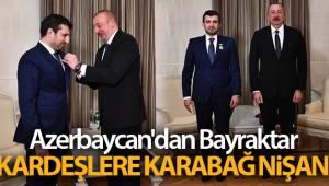 Azerbaycan'dan Bayraktar kardeşlere Karabağ Nişanı