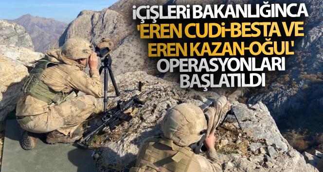 İçişleri Bakanlığınca 'Eren Cudi-Besta ve Eren Kazan-Oğul' operasyonları başlatıldı