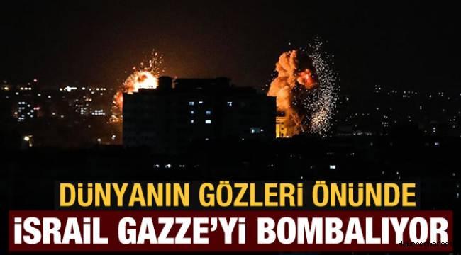 İsrail, Kadir Gecesi'nde Filistinlilere ses bombalarıyla saldırdı