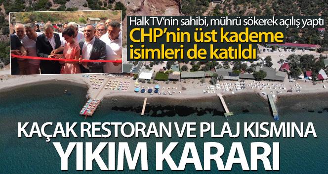 Assos'ta kaçak restoran ve plaj kısmına yıkım kararı