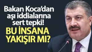 Sağlık Bakanı Koca, sosyal medyada aşı olmadığı iddialarına ilişkin iddialara sert tepki gösterdi